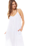 White Night Dress - Lazy Days Loungewear - 3