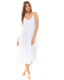 White Night Dress - Lazy Days Loungewear - 2