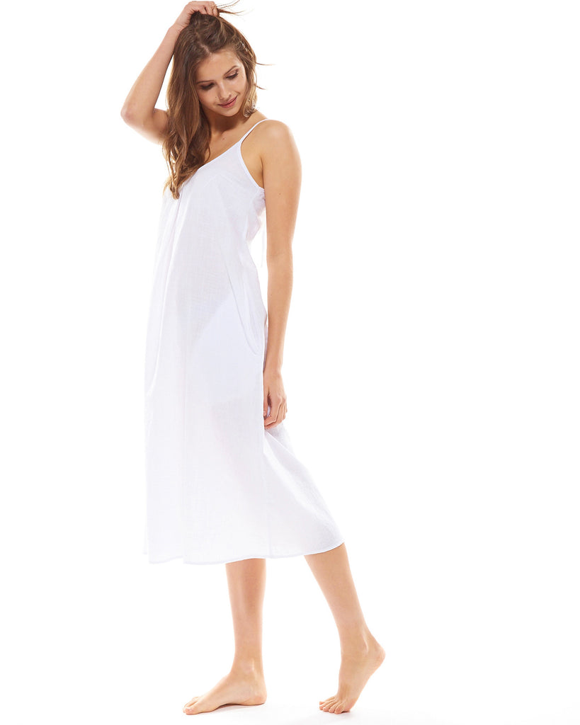 White Night Dress - Lazy Days Loungewear - 7