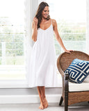 White Night Dress - Lazy Days Loungewear - 1