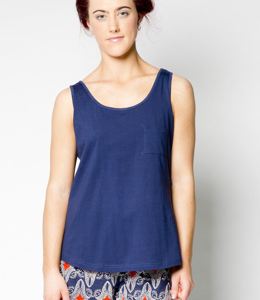 Navy Loose Top