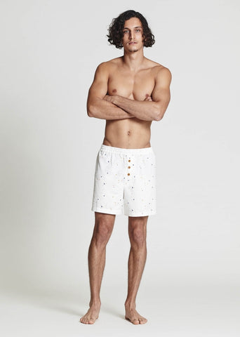 Aztec Cotton Sleep Shorts