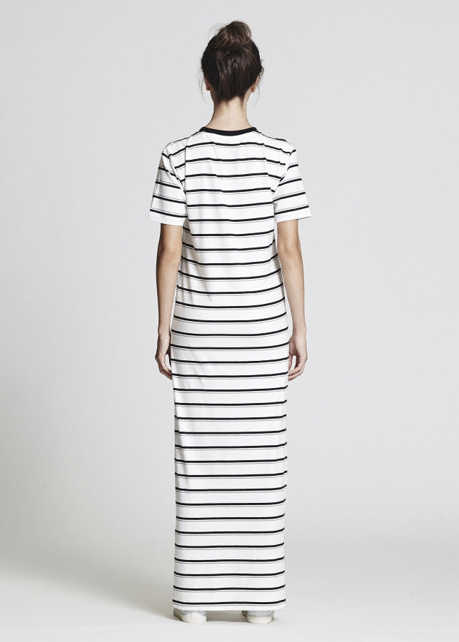 Stripe Jersey Maxi Dress - Lazy Days Loungewear - 3