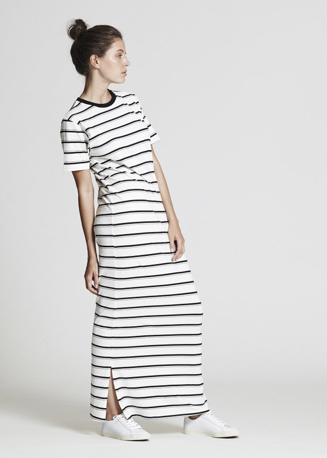 Stripe Jersey Maxi Dress - Lazy Days Loungewear - 1