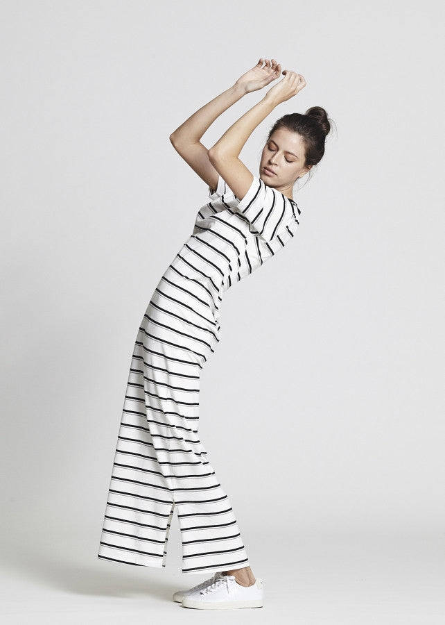 Stripe Jersey Maxi Dress - Lazy Days Loungewear - 2