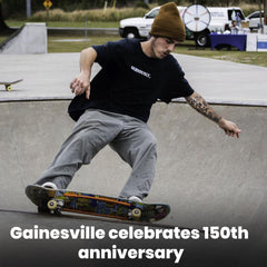 Gainesville celebrates 150th anniversary with skateboarding, painting