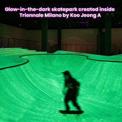 Glow-in-the-dark skatepark created inside Triennale Milano by Koo Jeong A