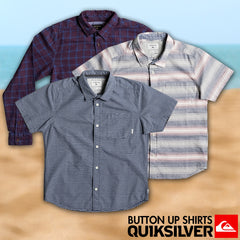 Quiksilver Surf Fall 2017 Youth Boys Lifestyle Button Up Shirts Lookbook