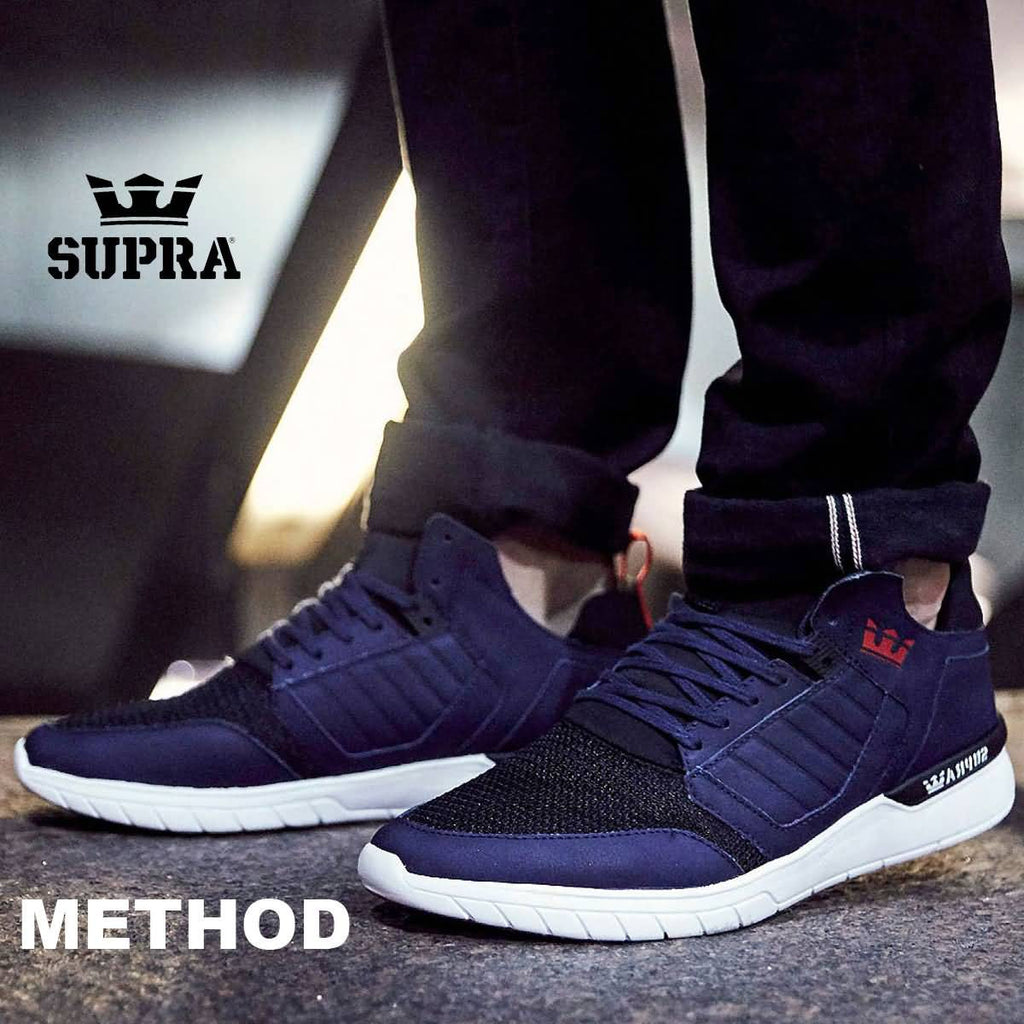 Supra Footwear 2017 Method Athentic Mid Top Skateboarding Skate Shoes –  Skate Gear 74d84a2f847