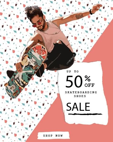 Skateboarding Shoes Sale Up to 50% Off