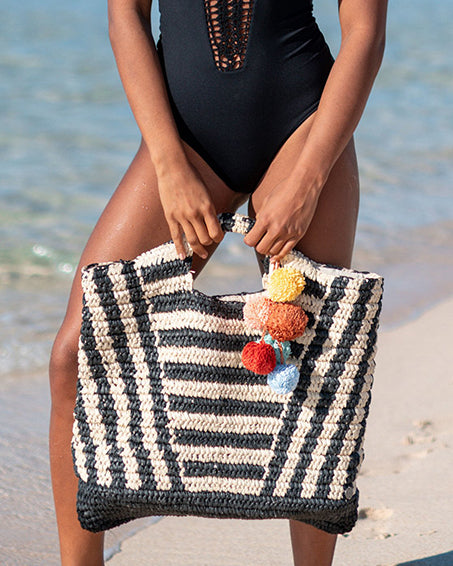 Talk To The Palm Straw Bag