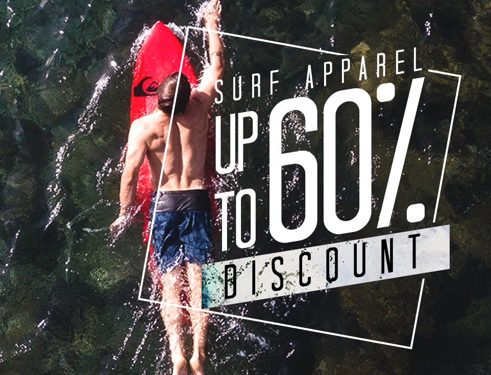 Surf Apparel Up to 60% Off