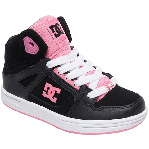 DC Pure HI Youth Girls Shoes Footwear