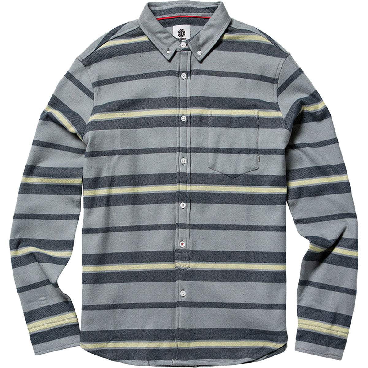 Element Pollock Men's Button Up Long-Sleeve Shirts - Smoke Grey