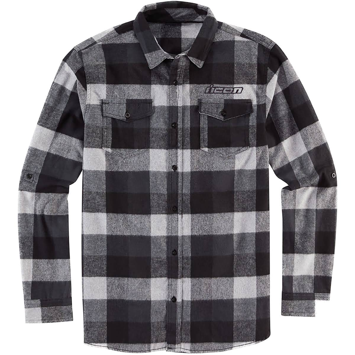 Icon Feller Flannel Men's Button Up Long-Sleeve Shirts-3040-2884