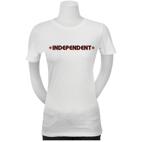 Independent Bar/Cross Fitted Youth Girls Short-Sleeve Shirts (NEW)