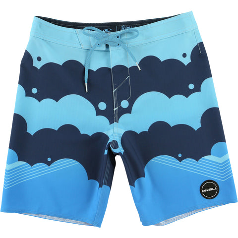 O'Neill Hyperfreak Brooklyn Clouds Youth Boys Boardshort Shorts (USED LIKE NEW / LAST CALL SALE)