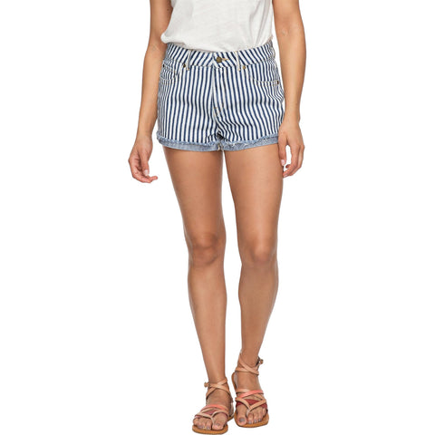 Roxy Holbrook High Waisted Women's Denim Shorts (NEW)