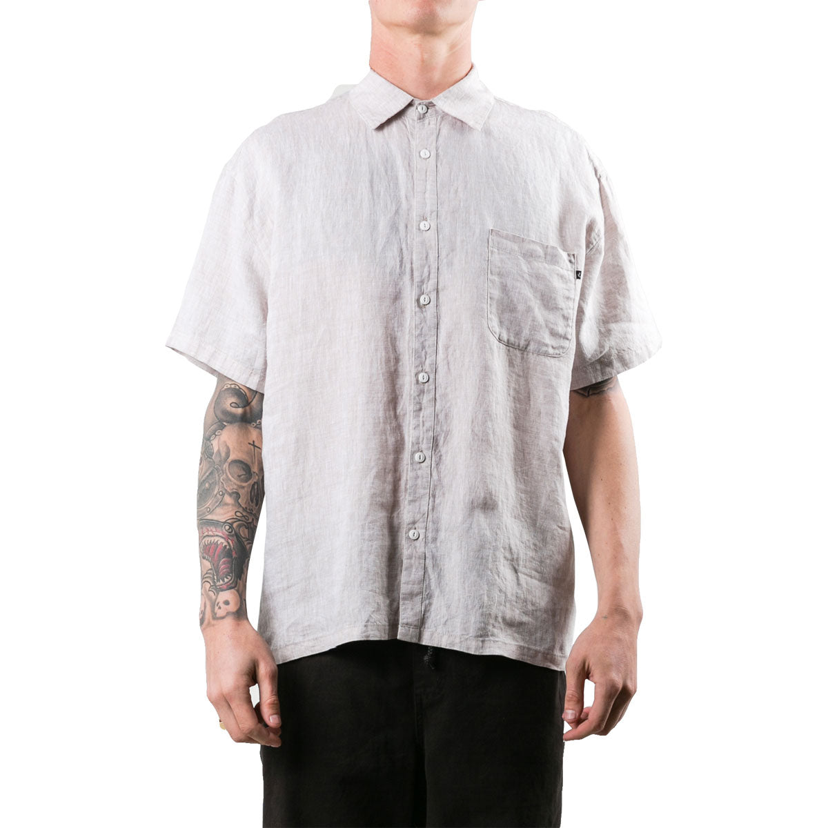 Rusty Men's Covers Button Up Short-Sleeve Shirts-WSM0818-SOG