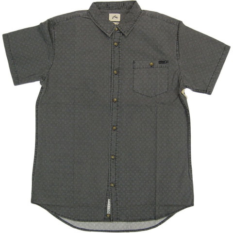 Rusty Big Biz Men's Button Up Short-Sleeve Shirts