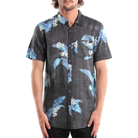 Rusty Melodious Men's Button Up Short-Sleeve Shirts (BRAND NEW)