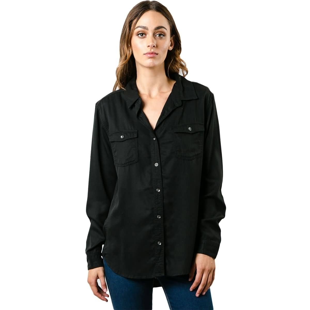 Rusty Perspective Women's Button Up Long-Sleeve Shirts-WSL0518