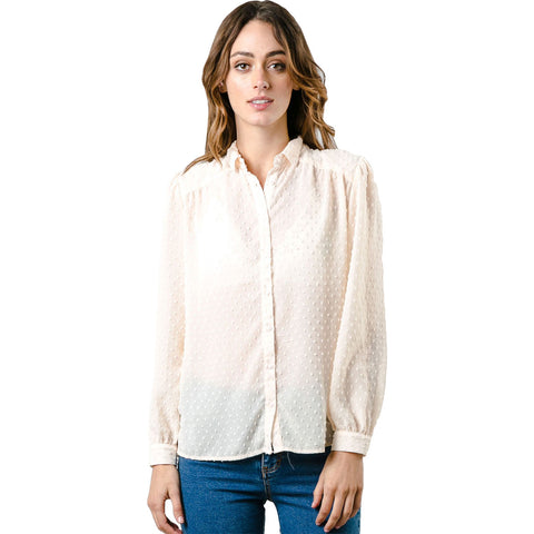 Rusty Distance Women's Button Up Long-Sleeve Shirts