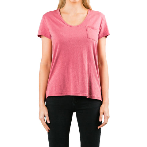Rusty Bare Scoop Neck Women's Short-Sleeve Shirts