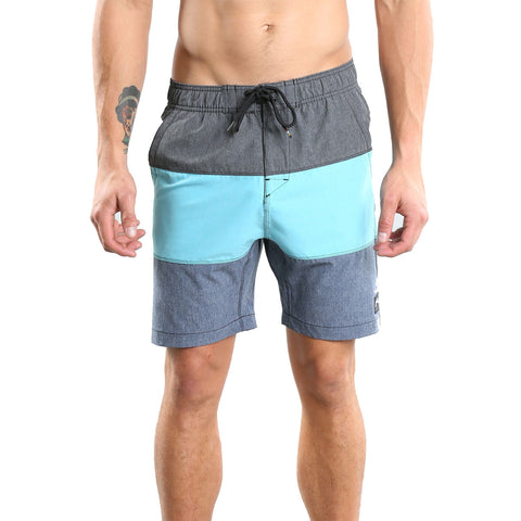 Rusty Tri Hooked Marle Elastic Men's Boardshort Shorts (BRAND NEW)