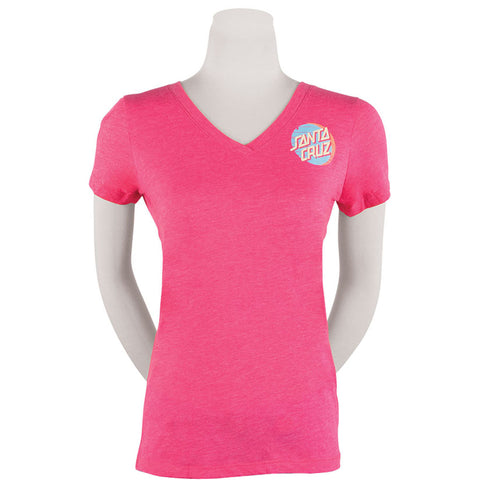 Santa Cruz  Drift Dot Fitted V-Neck Youth Girls Short-Sleeve Shirts (BRAND NEW)