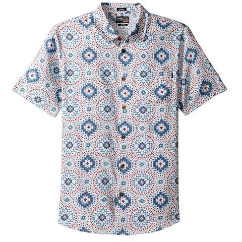 O'Neill Abro-Geo Men's Button Up Short-Sleeve Shirts (BRAND NEW)