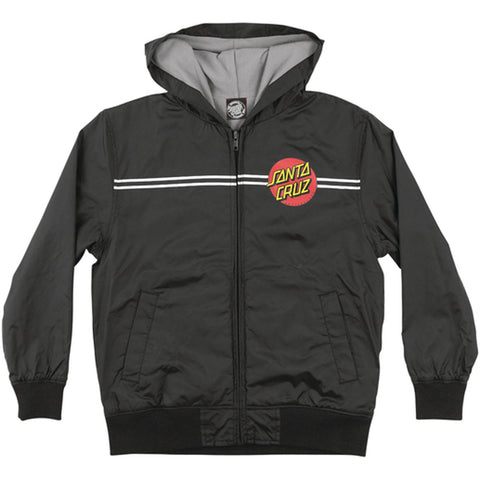 Santa Cruz Dot Hooded Windbreaker Youth Boys Jackets