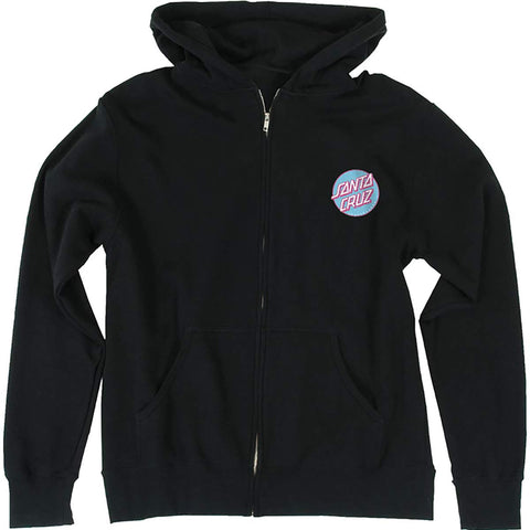Santa Cruz Lined Dot Youth Girls Hoody Zip Sweatshirts (BRAND NEW)