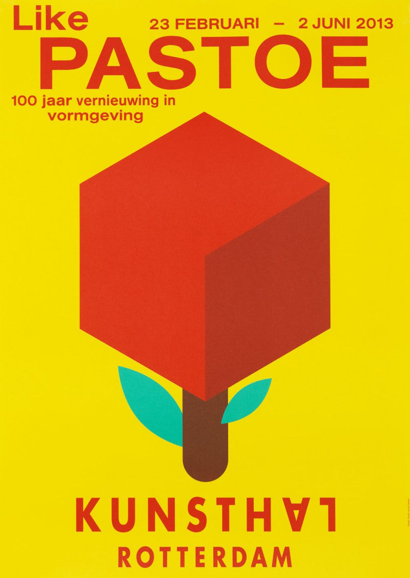 100 years Pastoe posters yellow