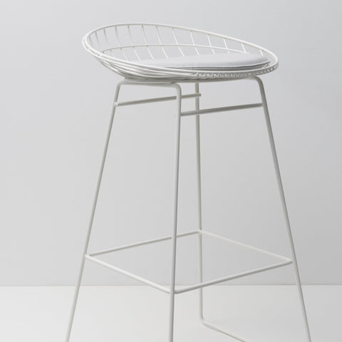 Wire stool KM07 white