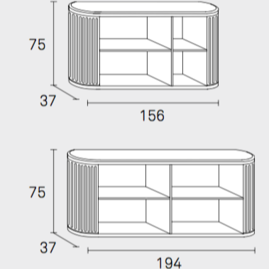 Shutters (rolluiken) for a'dammer unit horizontal model (4049809408097)