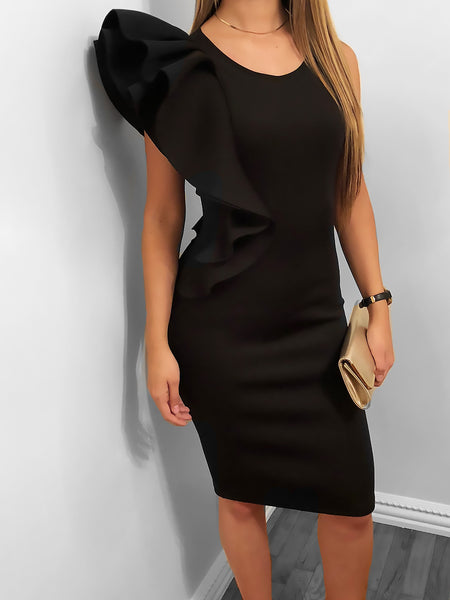 Touch of Elegance Dress-Black