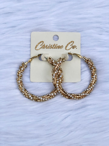 Bold Elegance Earrings-Gold