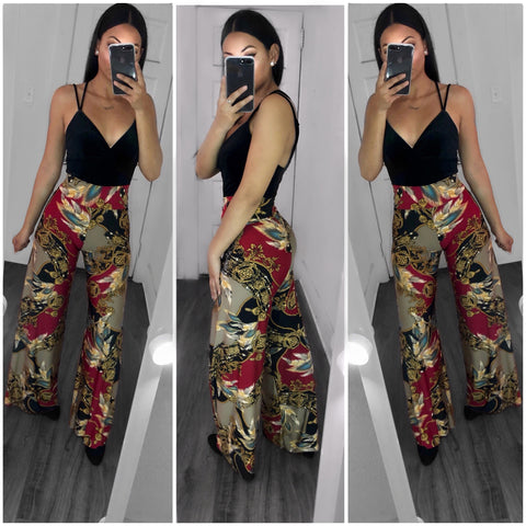 Dream Catcher Palazzo Pants-Multi