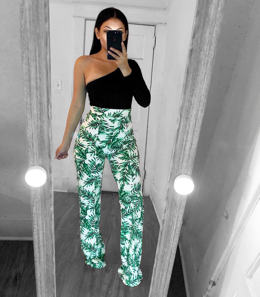 Tropical Lands Pants-Ivory