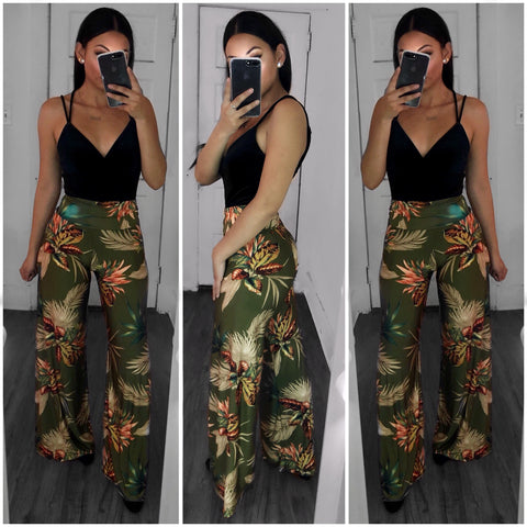 Autumn Effect Palazzo Pants-Multi