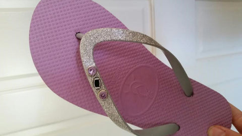 football flip flops pretty lavender and silver flip flop thong sandals