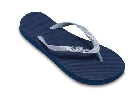 Baby Shower Blue Flip Flops for Ladies Having a Boy!