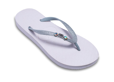 Bridal Flip Flops Engaged with 'Wedding Rings' (also has a matching grooms version for men)