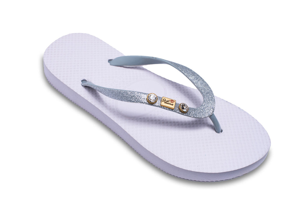 Bridal 'Just Married' Flip Flops for Brides (also has a matching grooms version for men)