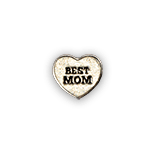 Best Mom in Heart Silver