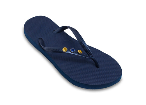 School Colors Ladies Flip Flops for Sports Moms, Spirit Wear, Team Colors, etc.