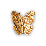 Butterfly med gold