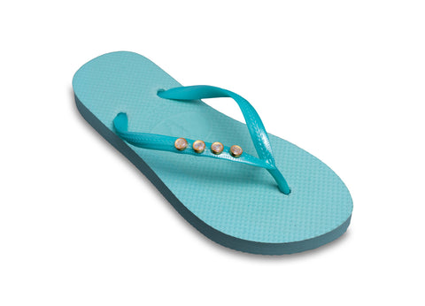 Moonstone and Mint Flip Flops for Ladies