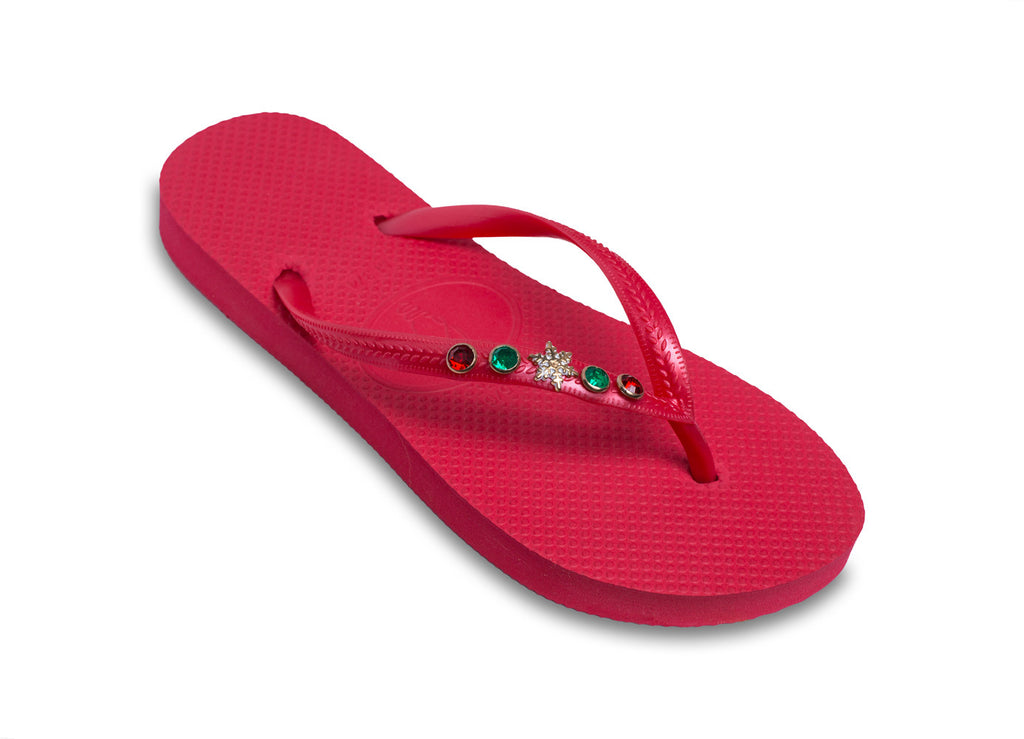 Christmas Flip Flops for Ladies who love the Holidays